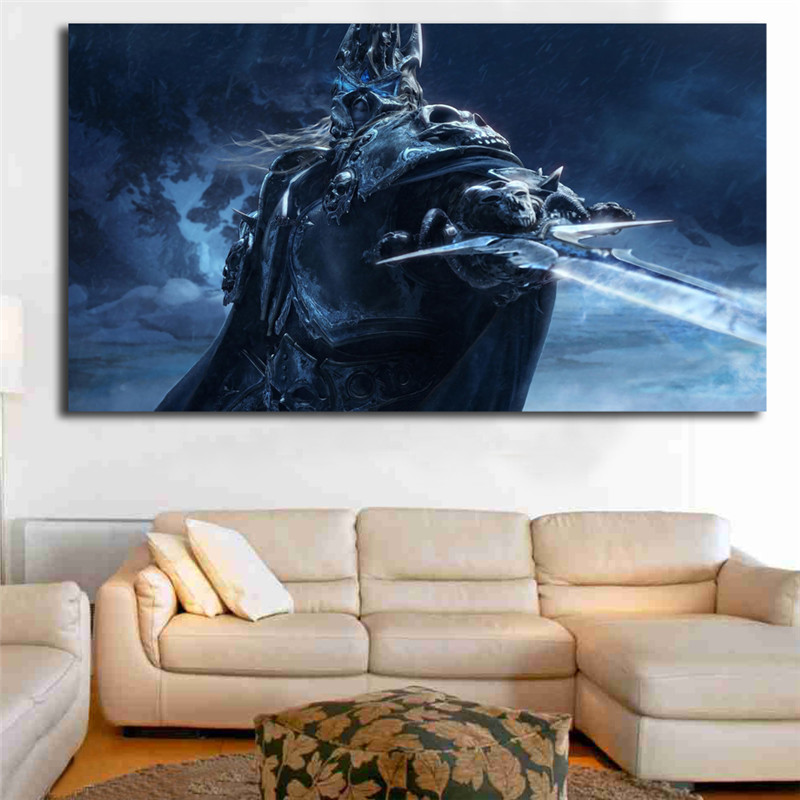 Wrath Of The Lich King Lume De Warcrafts imagini de Fundal de Perete de Arta Canvas Postere, Printuri Pictura pe Perete Poze Dormitor Decor Acasă HD