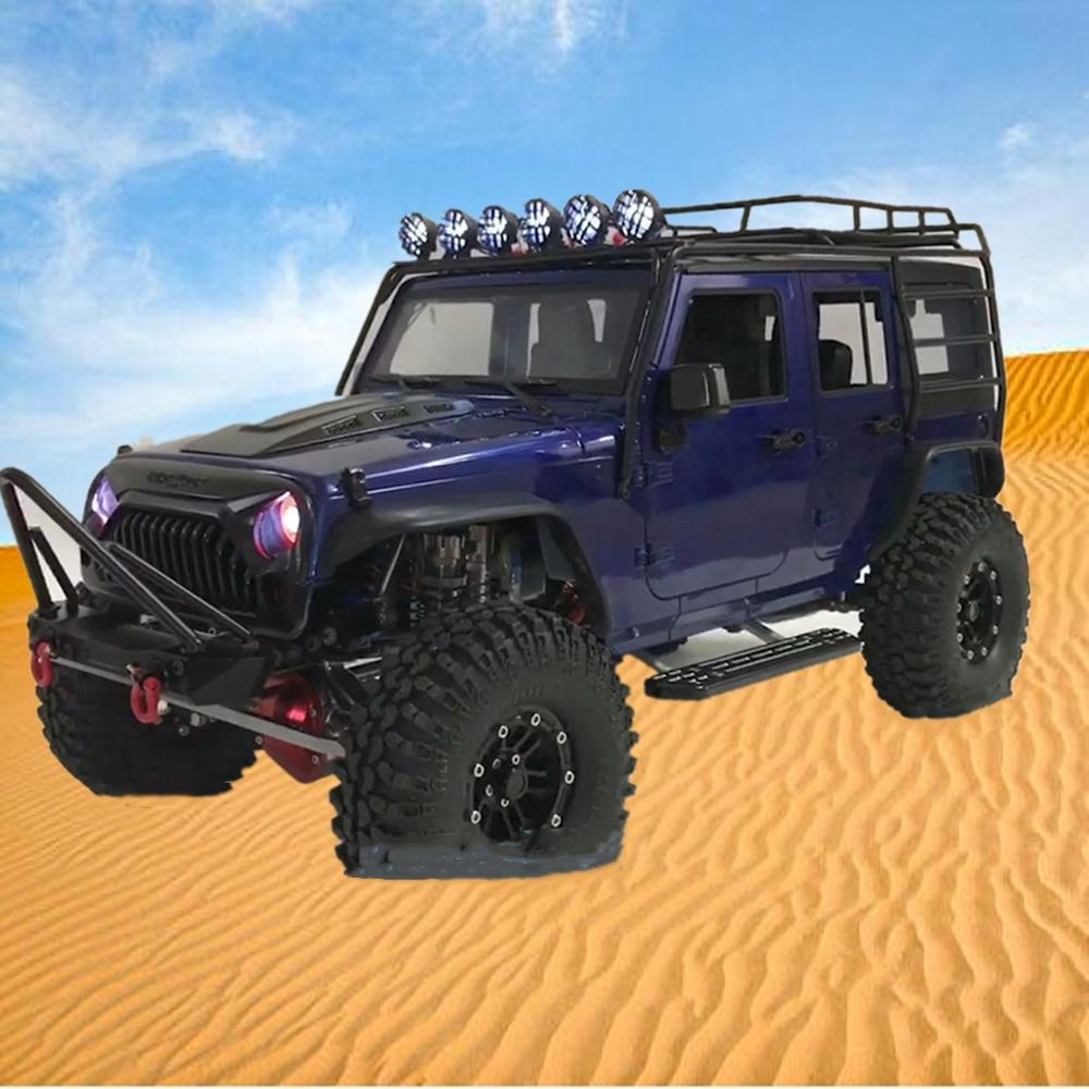 Acoperis metalic Rack Roll Cage & LED Lumina pentru 1/10 RC Crawer Axial SCX10 313MM Ampatament Jeep Wrangler caroserie