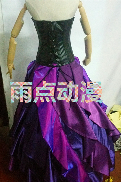 2020 New Little Mermaid Dress Mare Vrăjitoare Ursula Printesa Rochie de Cosplay Costum Violet Halloween cosplay, costume și peruci