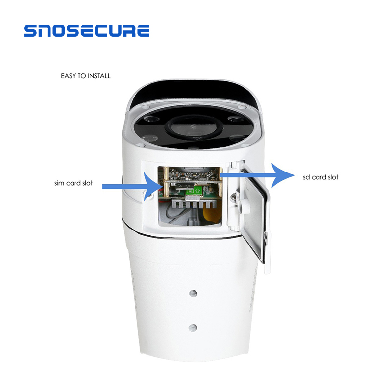 SNOSECURE SIM 4G Camera IP HD 5MP WIFI fără Fir de Securitate în aer liber Bullet Camera CCTV Metal P2P Onvif Două căi Audio Camhi APP